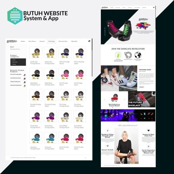 portofolio ecommerce butuh website