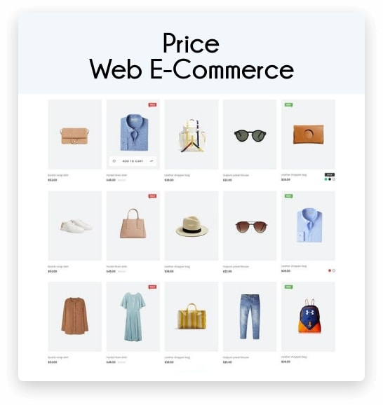 price web e-commerce